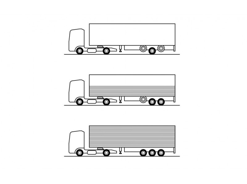 Control of Two Lift Axles