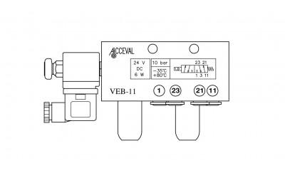 VEB - 11 Lift Axle Control Valve